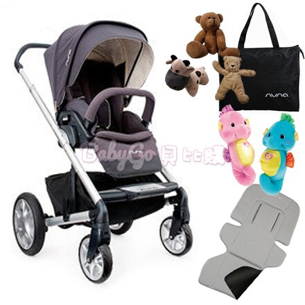 *babygo*Nuna MIXX 手推車(灰紫)【送安撫海馬+時尚提袋+可愛玩偶+涼感墊】