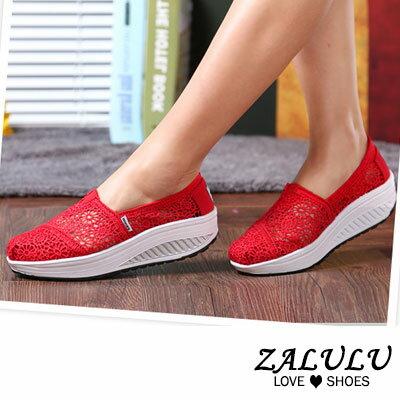 ZALULU愛鞋館 FD051 現貨 透膚蕾絲舒適減壓搖搖鞋-8色-36-40
