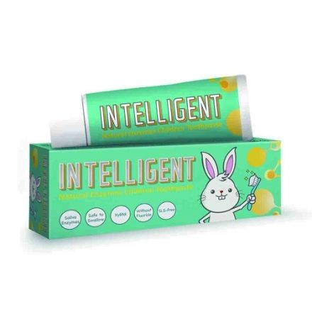專品藥局 Intelligent 因特力淨 兒童酵素牙膏 (原味) 40g 可吞食不含發泡劑【2002152】