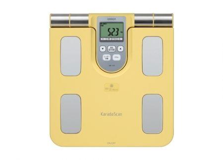 專品藥局 omron 歐姆龍多功能體重體脂機 hbf-370 黃色 (原廠公司貨1年保固) 【2003337】
