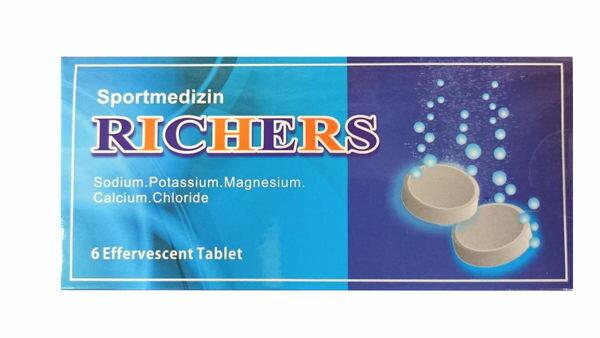 專品藥局 RICHERS 樂解電解質發泡錠 6入(腹瀉、發燒、大量運動者適用)【2003625】