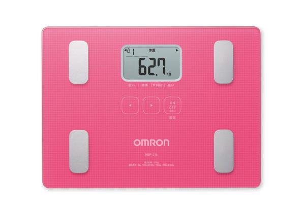專品藥局 omron 歐姆龍 多功能體重體脂機 hbf-216 粉色 (原廠公司貨1年保固) 【2005666】