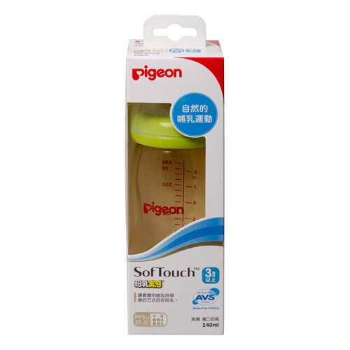 專品藥局 貝親Pigeon 寬口母乳實感PPSU奶瓶240ml【橘/綠/粉/白】( 實體簽約店面)