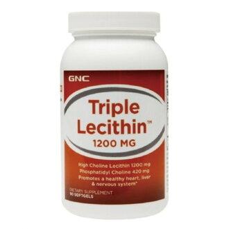 專品藥局【GNC健安喜】 三效卵磷脂膠囊食品1200mg(90顆) 【2009614】
