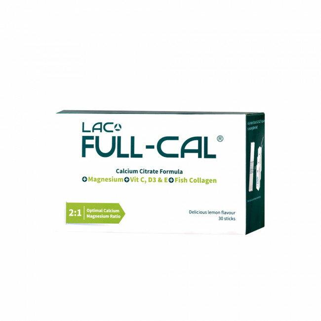 專品藥局【GNC健安喜】 LAC Full-Cal?優鎂鈣 30包(檸檬酸鈣+鎂) 【2009624】