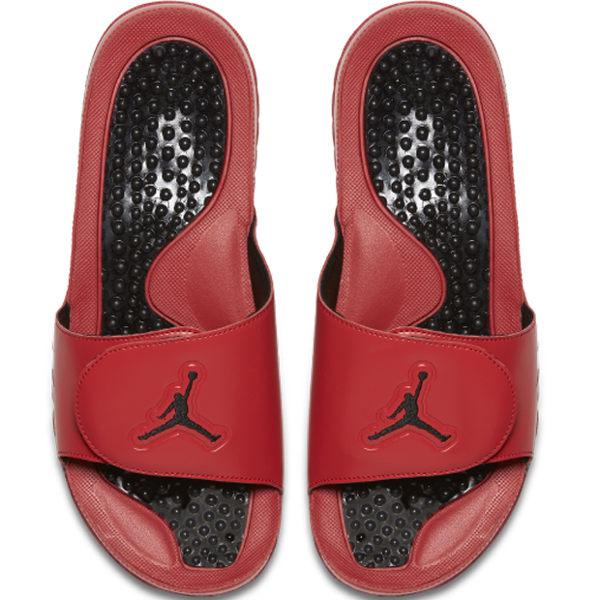 NIKE Jordan Hydro V Retro 男鞋 拖鞋 五代 魔鬼毡 乔登 舒适 红 黑 【运动世界】 555501-601
