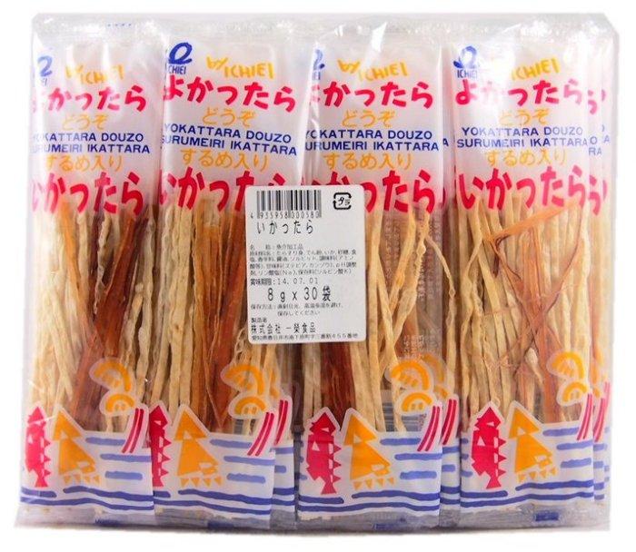 日本 一榮 鱈魚香絲 7g 魷魚和鱈魚的混合好吃又美味!【特價】§異國精品§