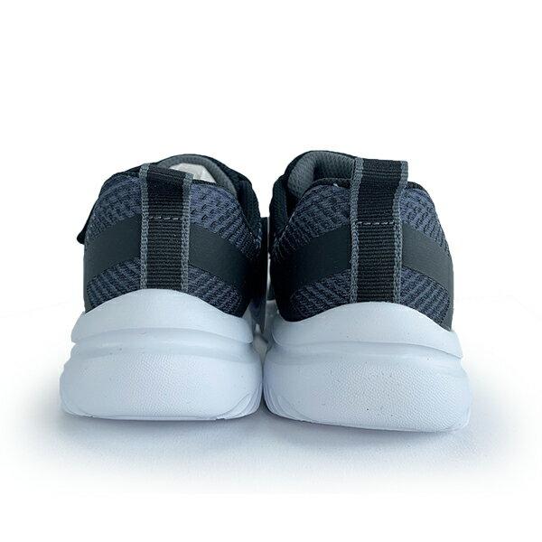 SKECHERS 中童鞋 童鞋 運動鞋 魔鬼氈 黑白灰 【405035LBKSL】