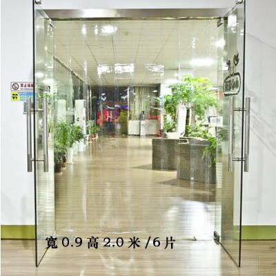 【3.0mm透明藍PVC軟玻璃門-寬0.9高2.0米/6片-1套/組】軟門簾擋風防蚊防熱(可定制)-7101001