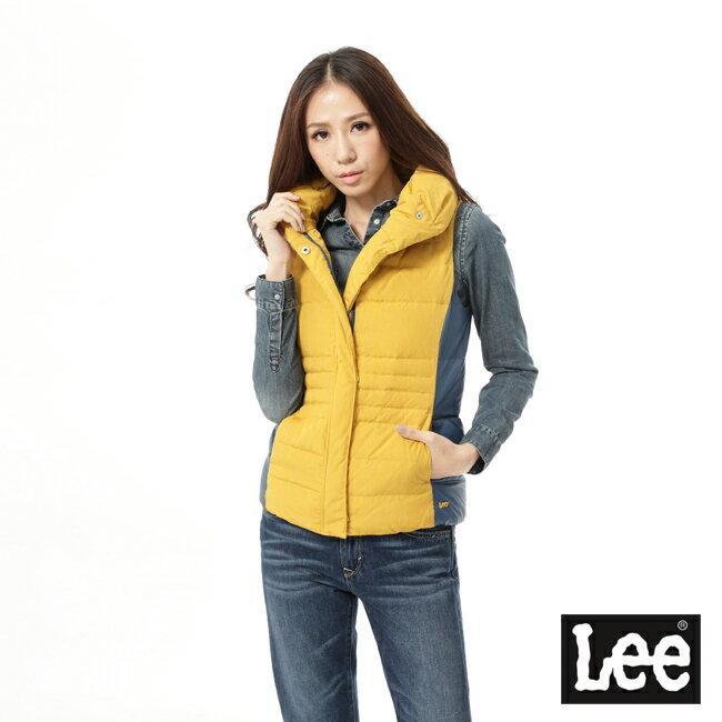 Lee 羽絨背心-芥末黃