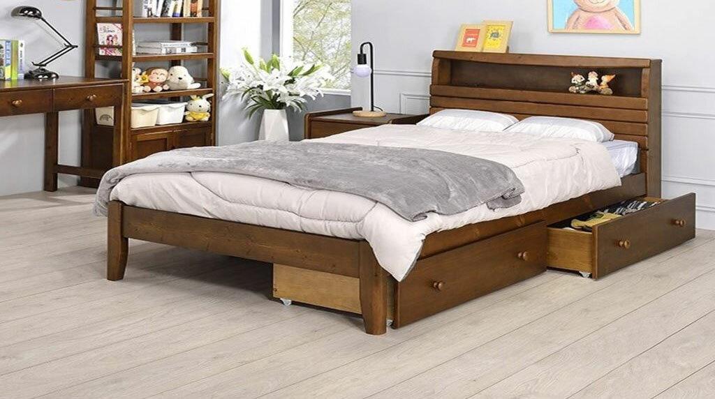 【尚品傢俱】YC-18 5尺雙人床(附插座)~另有3.5尺單人床~