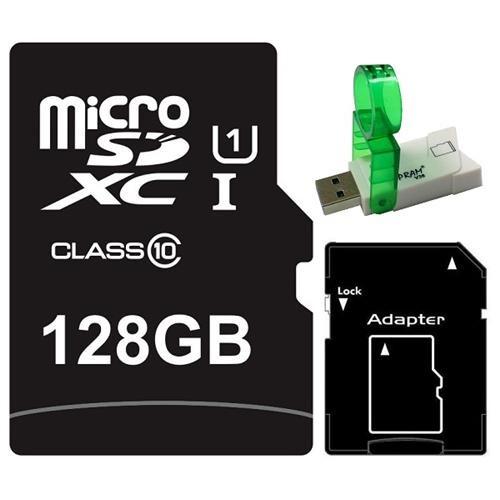Major OEM 128GB 128G microSDXC UHS-I 70MB/s Class 10 microSD micro SD SDXC C10 Card + USB 3.0 Reader 0