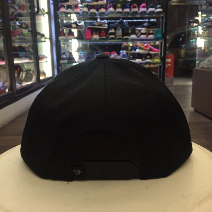 BEETLE PLUS 西門町 全新 DIAMOND SUPPLY CHAMPAGNE BLACK CAP 黑 帽 D14DHA18BLK DA-16 2