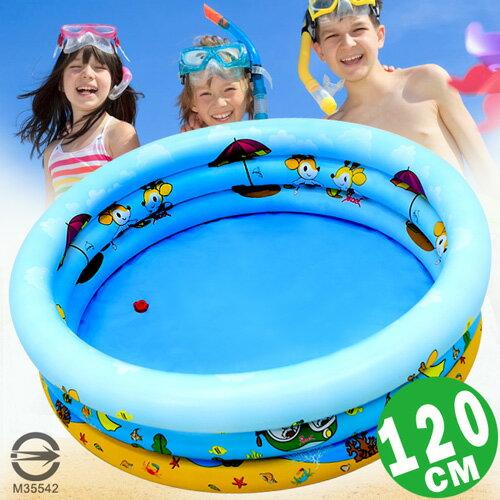 120CM小鹿充氣游泳池(排水孔)120公分兒童戲水池.充氣泳池球屋球池遊戲池.推薦哪裡買專賣店P008-120