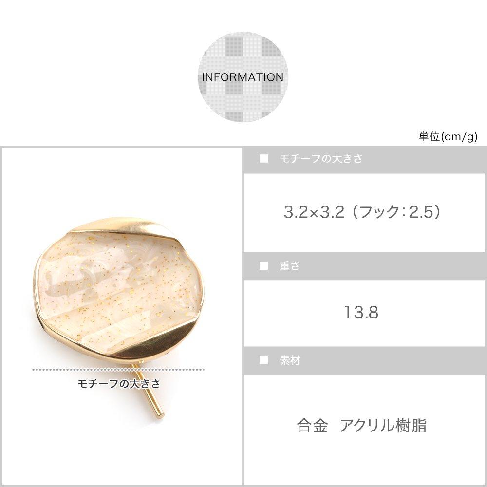 日本CREAM DOT  /  ポニーフック ヘアカフス ヘアゴム 大人っぽい シンプル おしゃれ ヘアアクセサリー マーブル 丸 サークル ホログラム 大人カジュアル シンプル 可愛い ゴールド ホワイト ピンク ブルー  /  qc0461  /  日本必買 日本樂天直送(690) 7