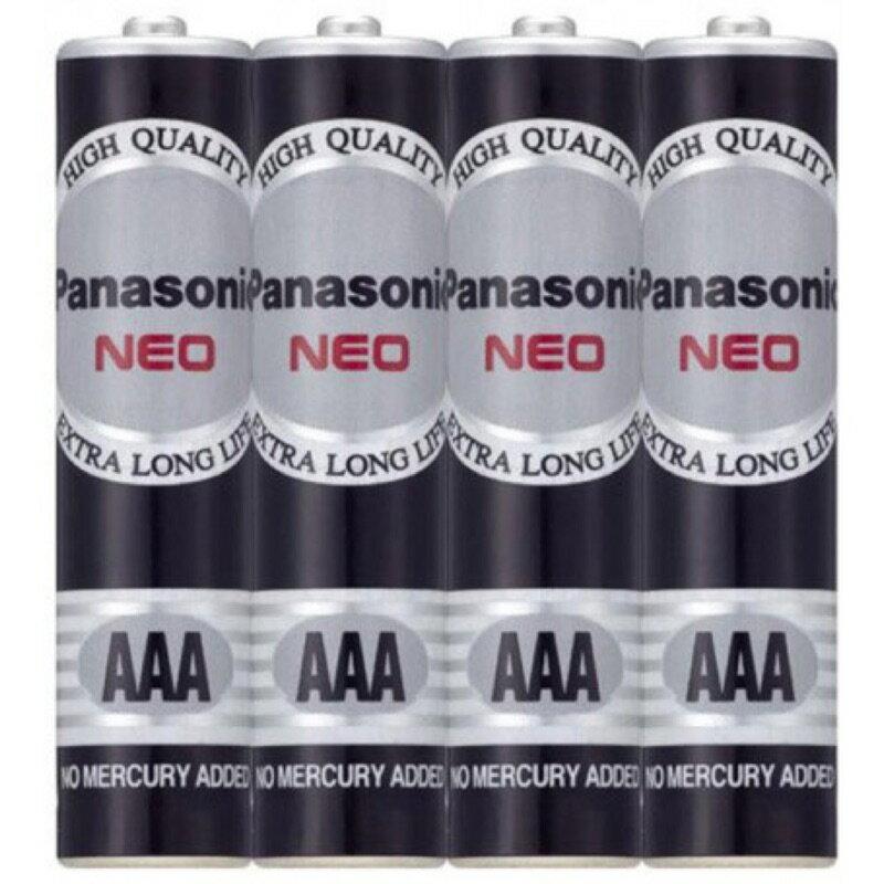 【Panasonic 國際牌】4號電池、黑猛、碳鋅電池AAA(4入、20入、60入)