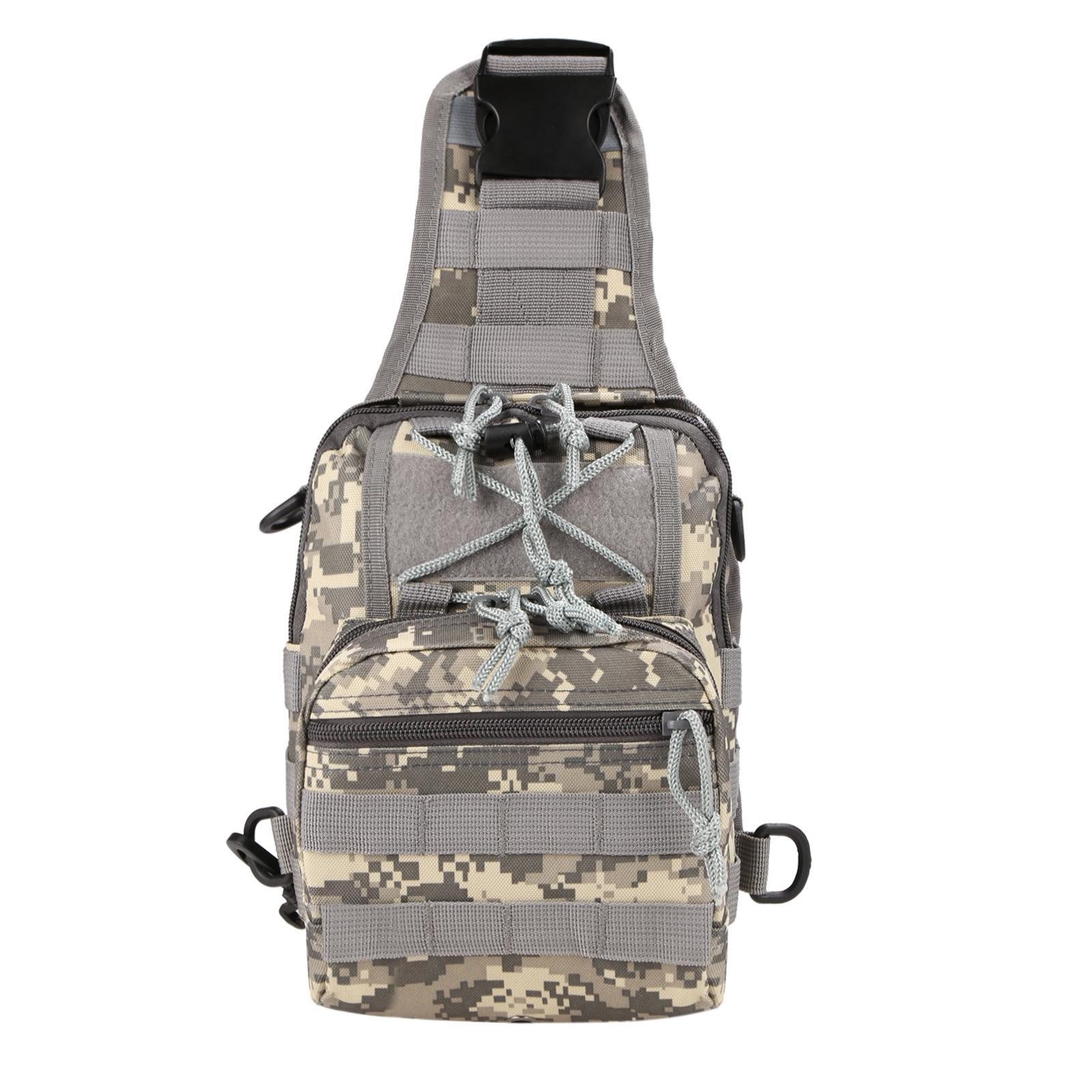Canvas Multifunction Outdoor Casual Chest Pack Shoulder Bag 2