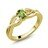 0.50 Ct Oval Green Peridot 18K Yellow Gold Plated Silver Ring 0