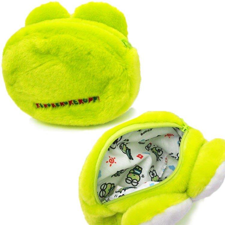 大賀屋 大眼蛙 零錢包 收納包 耳機包 化妝包 小包 外出 方便 三麗鷗 日貨 正版 授權 J00014733