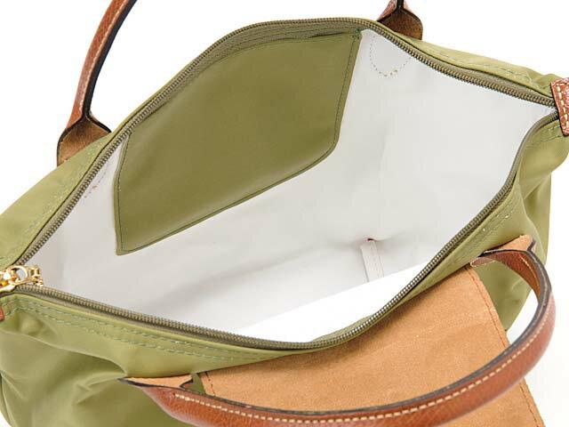 [短柄S號]國外Outlet代購正品 法國巴黎 Longchamp [1621-S號] 短柄 購物袋防水尼龍手提肩背水餃包 抹茶綠 2