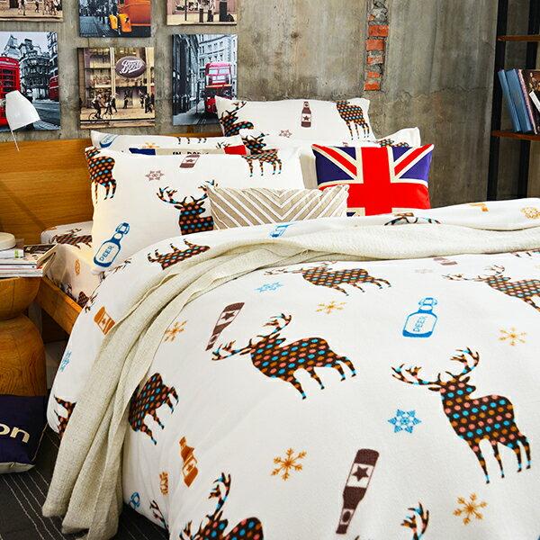 超暖搖粒絨雙人床包被套組