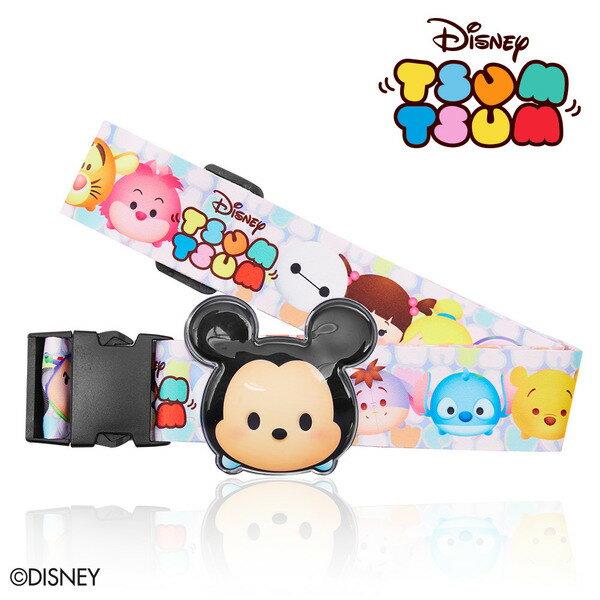 【加賀皮件】DESENO Disney 迪士尼 TSUMTSUM 可愛 造型 立體名牌束帶 行李箱綁帶 米奇 B1135-0007