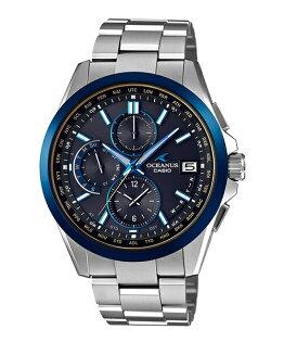 CASIOOCEANUSOCW-T2600G-1AJF世界六局旗艦電波鈦金屬腕錶黑面43mm