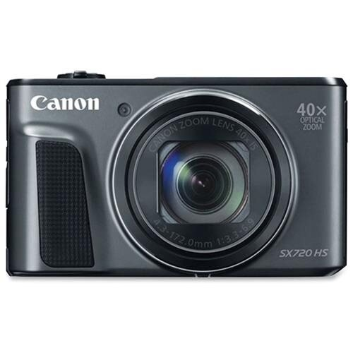 "Canon PowerShot SX720 HS 20.3 Megapixel Compact Camera - Black - 3"" LCD - 16:9 - 40x Optical Zoom - 4x - Optical (IS) - TTL - 5184 x 3888 Image - 1920 x 1080 Video - HDMI - PictBridge - HD Movie Mode - Wireless LAN 0"