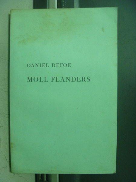 【書寶二手書T5/原文小說_OOK】Moll flanders_Daniel defoe_民55