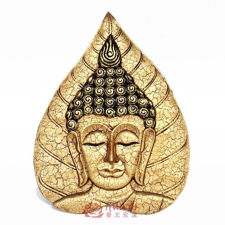 泰國工藝品 佛像木雕畫 創意東南亞客廳玄關 家居飾品墻壁飾掛飾1入