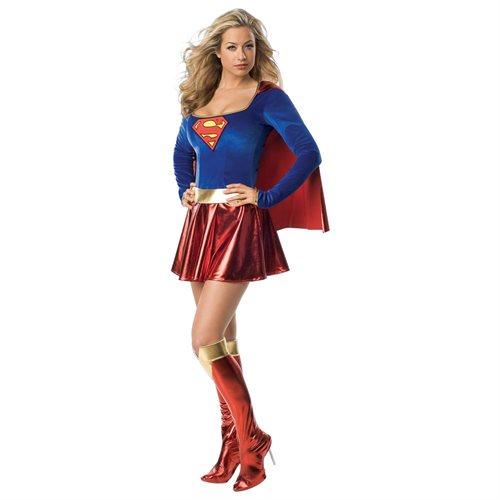 Supergirl Deluxe 1-Piece Adult 0