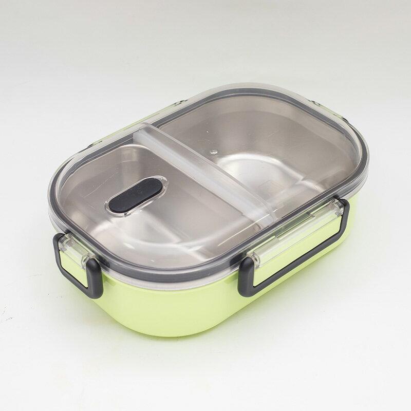 【katie】304不鏽鋼分格隔熱便當盒720ml-綠