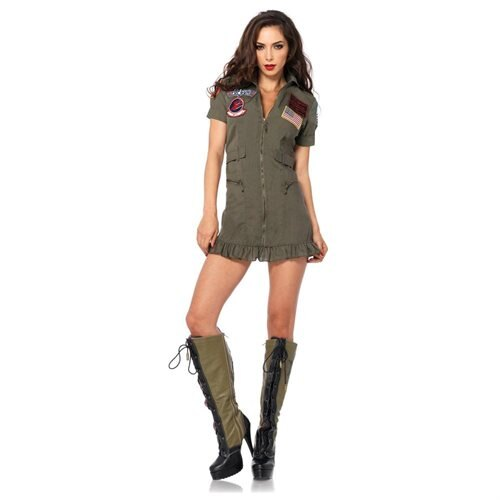 Top Gun Women's Flight Dress Adult Costume 0