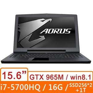 AORUS X5KV4-0R4100F7B30  黑 筆記型電腦 15.6h吋/i7-5700HQ/16G/mSSD256*2+1T/W8.1