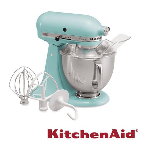 (送不鏽鋼攪拌盆)KitchenAid 桌上型 攪拌機蘇打藍 3KSM150PSTIC