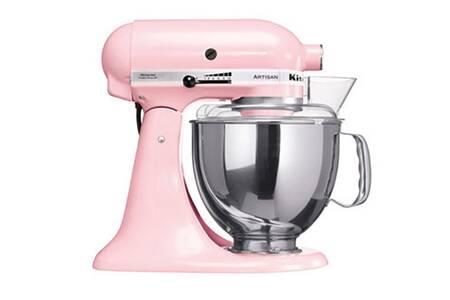 (送不鏽鋼攪拌盆)KitchenAid 桌上型 攪拌機蜜桃粉 3KSM150PSTPK