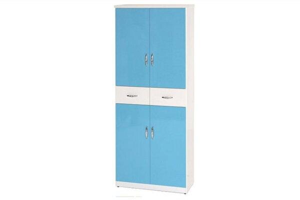 【石川家居】896-02(藍白色)鞋櫃(CT-333)#訂製預購款式#環保塑鋼P無毒防霉易清潔