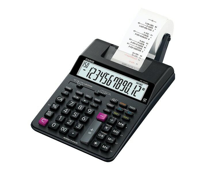 【文具通】CASIO 卡西歐 HR-100RC 12位數 打印型 列印 紙捲 計算機 另售變壓器 L5140089