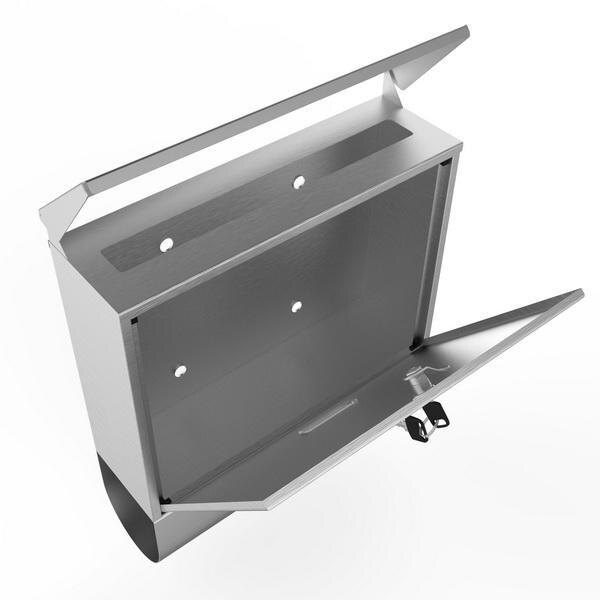 Stainless Steel Mailbox Wall Mount Letterbox Large Size 3