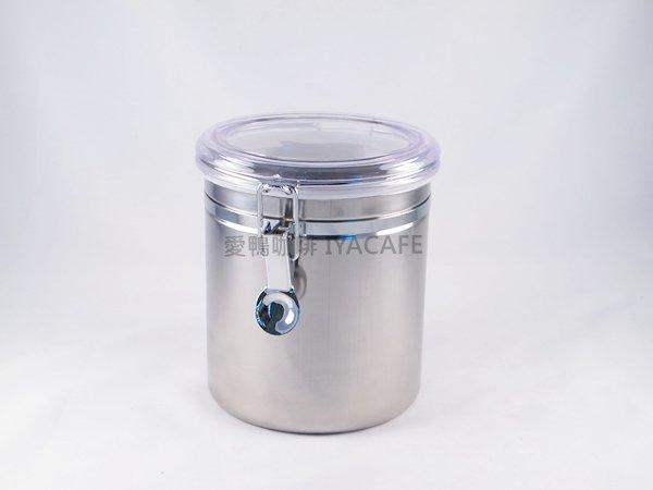 《愛鴨咖啡》不銹鋼密封罐 咖啡豆 儲豆罐 食品密封罐 10x12.5cm