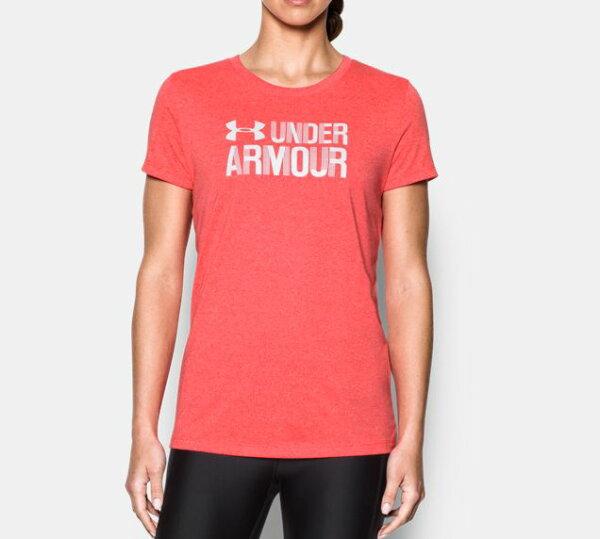 《UA出清5折》Shoestw【1298610-963】UNDERARMOURUA服飾短袖運動上衣紅色女生