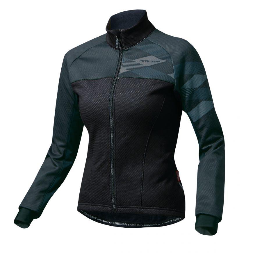 【7號公園自行車】PEARL IZUMI W7500-BL-16 5度冬季女性保暖防風長袖公路車衣(黑)