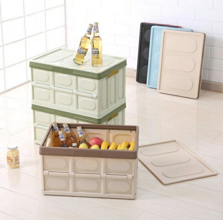 多功能可疊加折疊大容量收納箱 馬卡龍摺疊收納箱 衣物箱 置物櫃 折疊整理箱 整理箱收納 收納箱 整理箱 疊加 收納