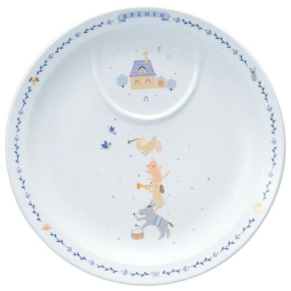 日本皇室愛用Narumi嬰幼童餐具-22CM餐盤布萊梅樂隊款