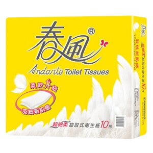 春風 超細柔抽取衛生紙 (110抽x10包)/串