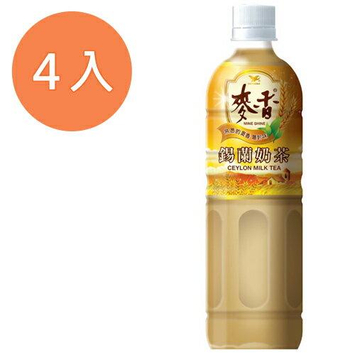 統一 麥香 錫蘭奶茶 600ml (4入)/組