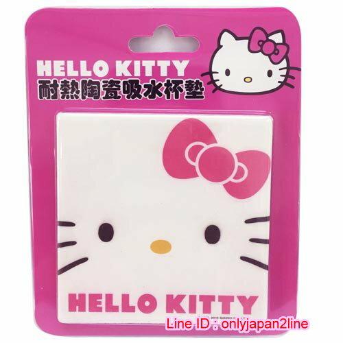~真愛 ~16110900016 方形吸水杯墊~KT大臉粉 三麗鷗 Hello Kitty