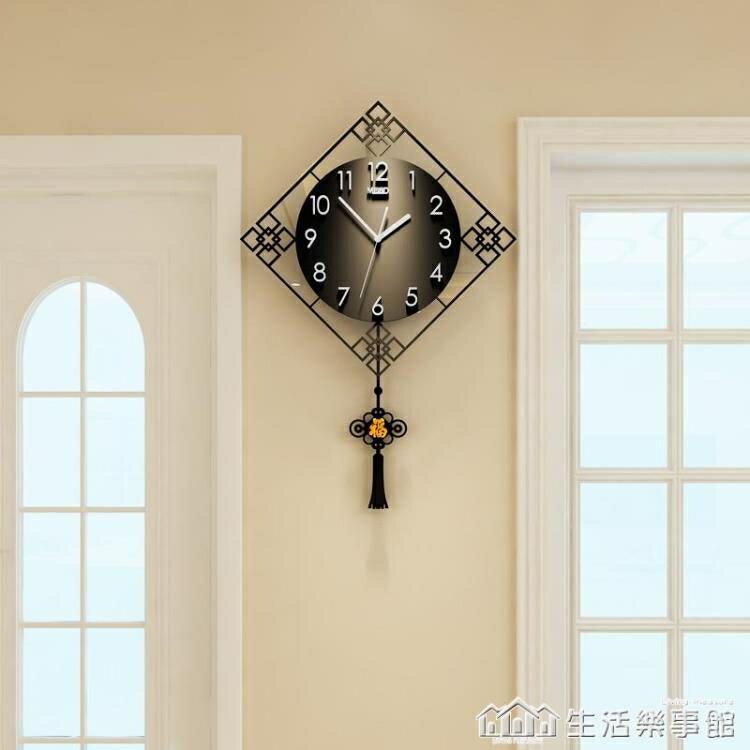 中國風掛鐘家用大氣中式表客廳鐘表創意時尚時鐘掛墻現代掛表簡約NMS