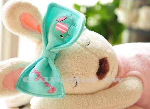 【J13102201】可愛薄荷小象蝴蝶結束髮帶 治愈系 萌大象髮帶 化妝洗臉必備