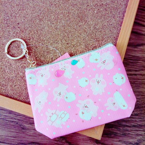 【真愛日本】18050700012斜紋皮革錢包-卡娜赫拉吹泡泡卡娜赫拉的小動物兔兔P助零錢包收納包化妝包